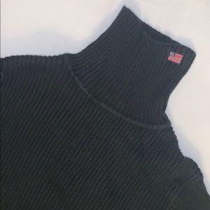 Polo Ralph Lauren Mock Ribbed Turtleneck - Black